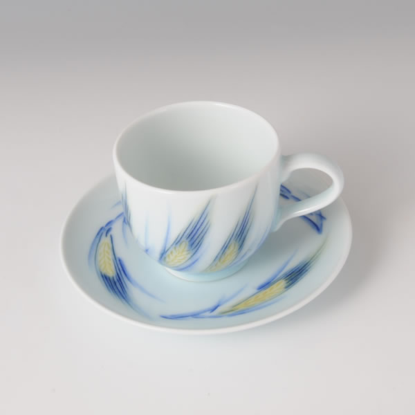 MUGIMON WANSARA (Cup & Saucer with Wheat design)