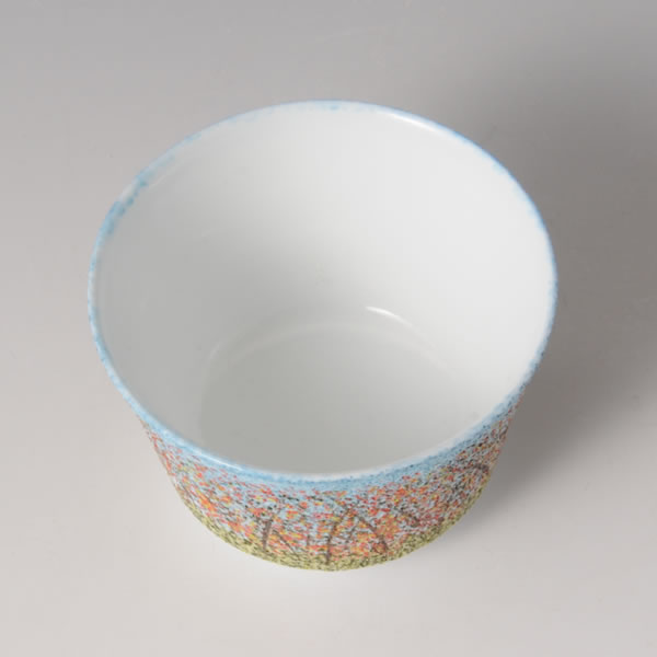 TENKOKUZOGAN GUINOMI AKI (Sake Cup with Stippling Inlay, Autumn) Arita ware