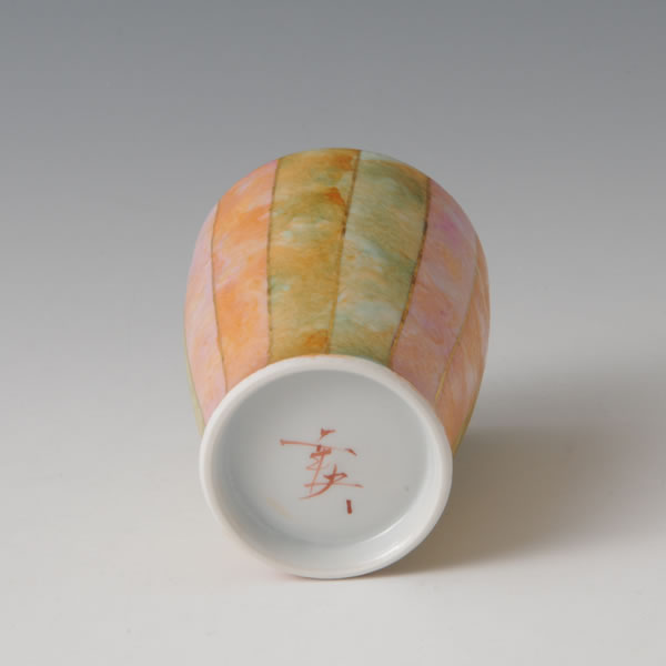 SAISHIKIKINSAI CUP (Cup with overglaze enamel and gold decoration D)