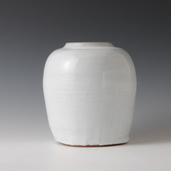 HAKUYU YOHEN TSUBO (Jar with White glaze and Kiln Effects E) Hagi ware