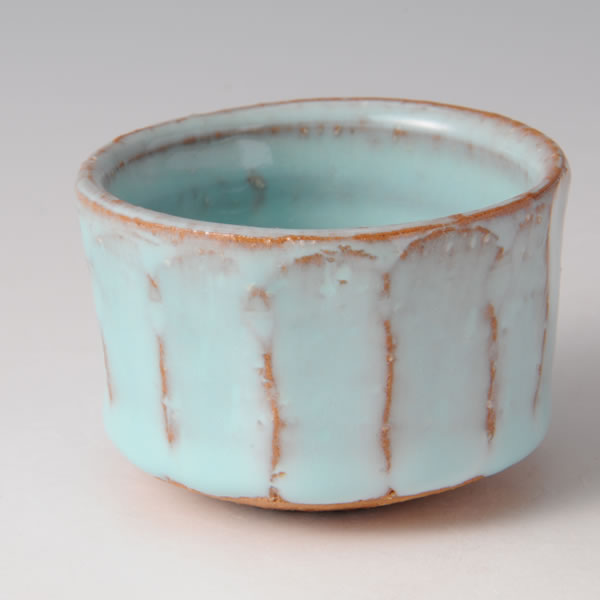 TANSEIYU GUINOMI (Sake Cup with Pale Blue Glaze I)