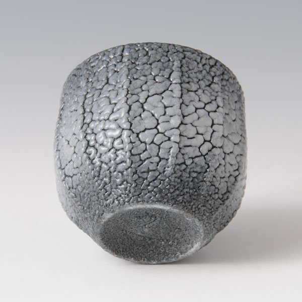 AIIROSHINO GUINOMI (Dark Blue Shino Sake Cup J)