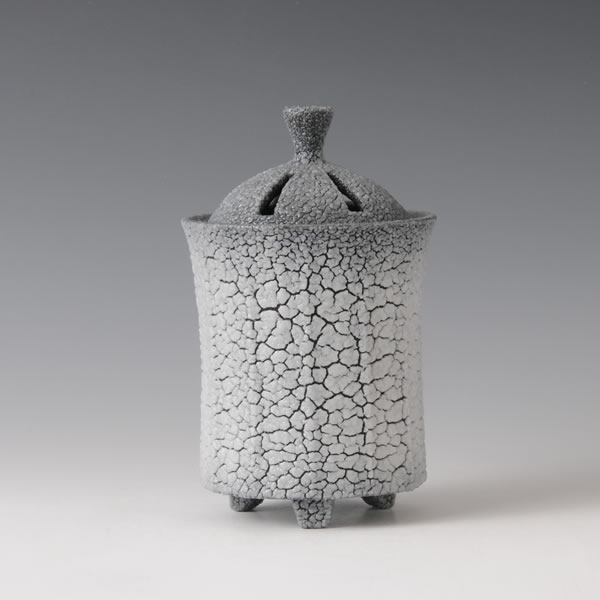 AIIROSHINO KORO (Dark Blue Shino Incense Burner B)
