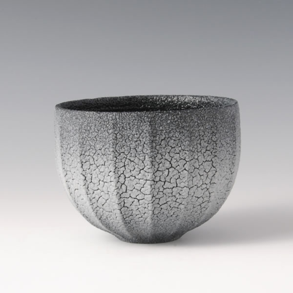 AIIROSHINO CHAWAN (Dark Blue Shino Tea Bowl) Mino ware