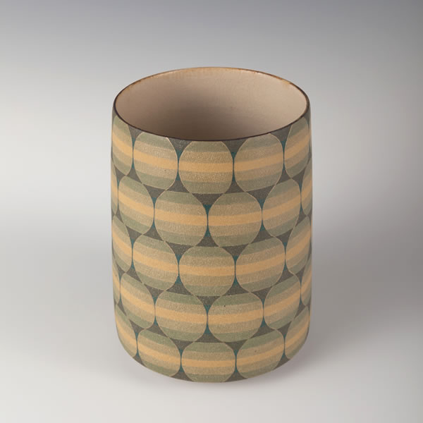 RYOKUSAITO HIROKUCHIKO (Jar in Green decoration with wide rim)
