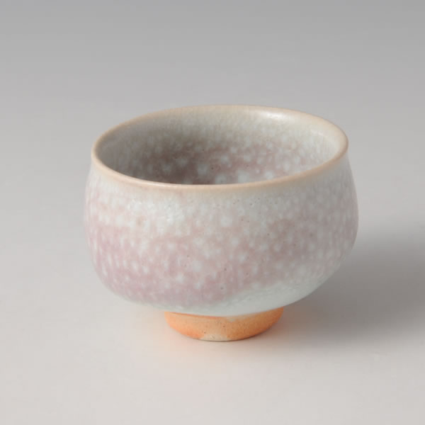 KOHANYU GUINOMI (Sake Cup with Spotted Grapevine Branch-ash glaze G)