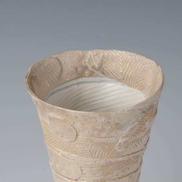 TSUGUKATACHI GINSAI BEERCUP (Form to Pour Cup with Silver decoration B) Hizenyoshida ware