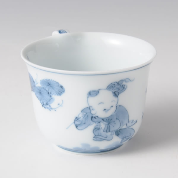 SOSAKUKARAKO COFFEEWAN (Cup & Saucer by Creation Ancient Chinese Boys)