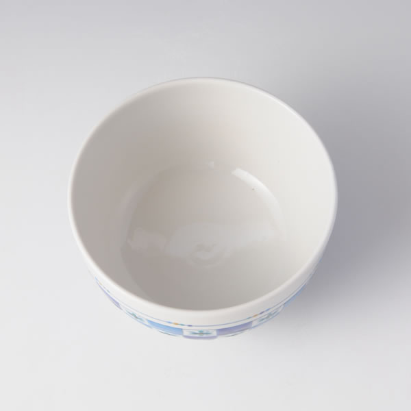 CHAWAN HANAKOMON (Tea Bowl with Petal Komon) Kutani ware
