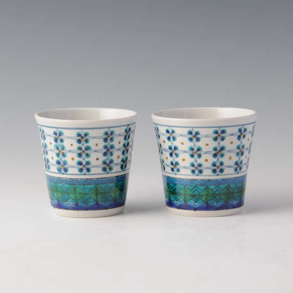 UTSUWA HANAKOMON (Bowl with Petal Komon) Kutani ware
