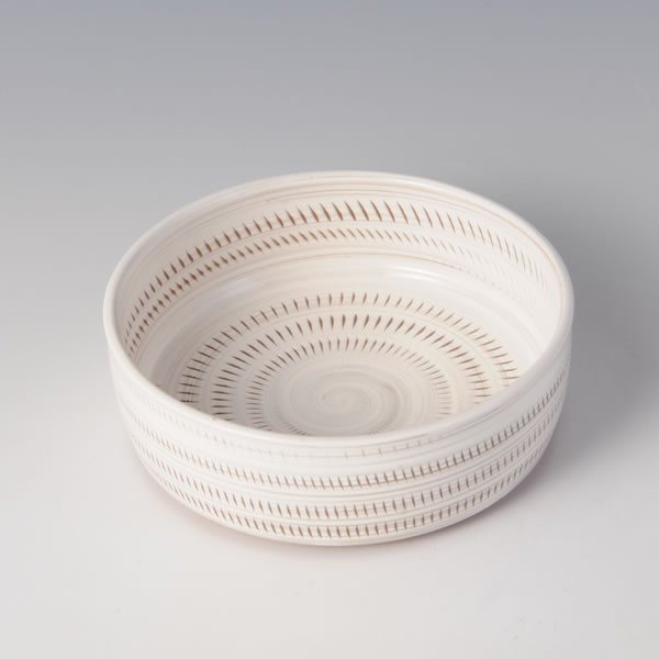 JOMON BOWL (Bowl with Vertical Lines and White decoration)