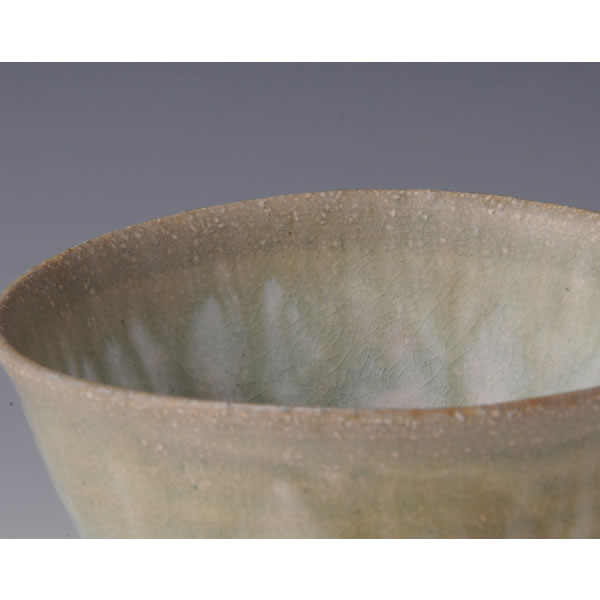HAIYUSAI CHAWAN (Tea Bowl with Ash glaze decoration A) Kyoto ware