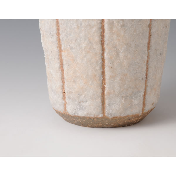 SEKISAI KAKI (Flower Vase with Decorated Stone Grains) Kyoto ware
