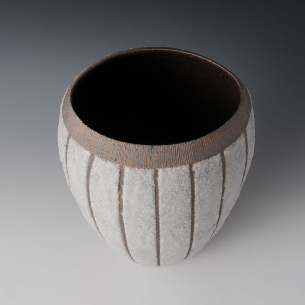 SEKISAI TSUBO (Jar with Decorated Stone Grains) Kyoto ware