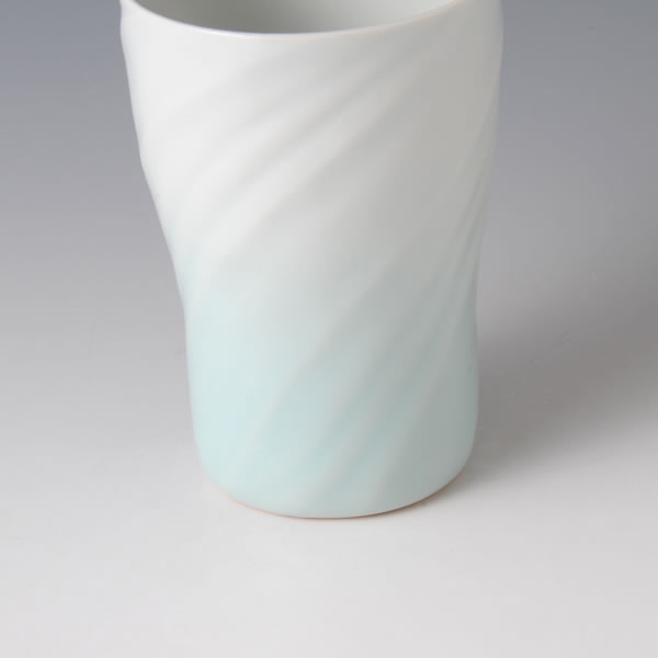 SEIHAKUJI FREECUP (White Porcelain Cup with Pale Blue glaze B)